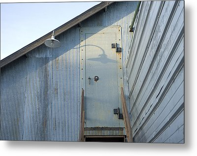 The Entry To A Metal Shed On A Sawmill Metal Print by Joel Sartore