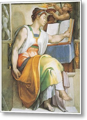 The Erythraean Sibyl Metal Print by Michelangelo Buonarroti