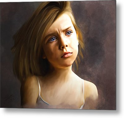 The Eyes Are The Windows Metal Print by Stacy Moore