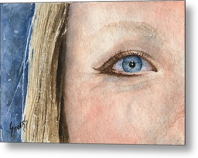 The Eyes Have It - Shannon Metal Print by Sam Sidders