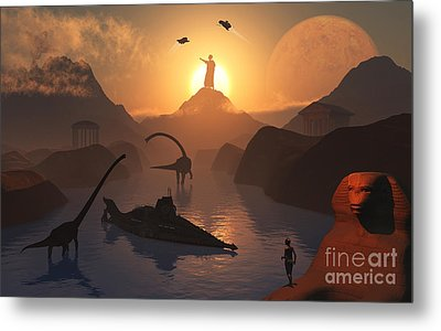 The Fabled City Of Atlantis Set Metal Print