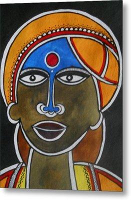 The Face Metal Print by Paritosh Pal