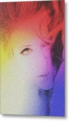 The Face Metal Print by Steve K