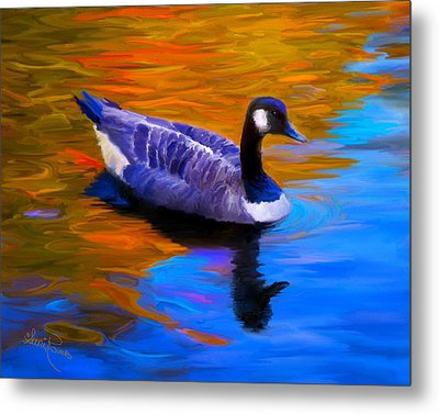 The Fall Goose Metal Print by Suni Roveto