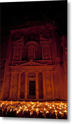 The Famous Treasury Lit Up At Night Metal Print by Taylor S. Kennedy