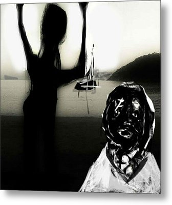 Metal Print featuring the mixed media The Farewell by Rc Rcd