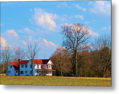 Metal Print featuring the photograph The Farm by Bob Whitt