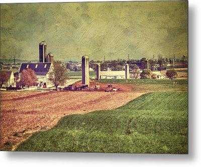 The Farm In Lancaster Metal Print by Kathy Jennings