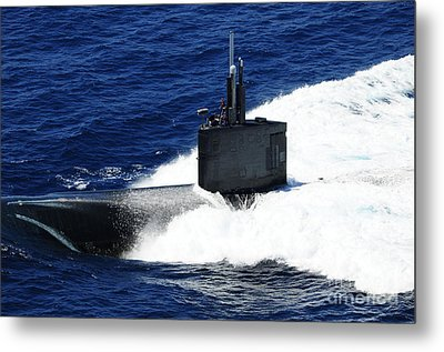 The Fast-attack Submarine Uss Metal Print by Stocktrek Images