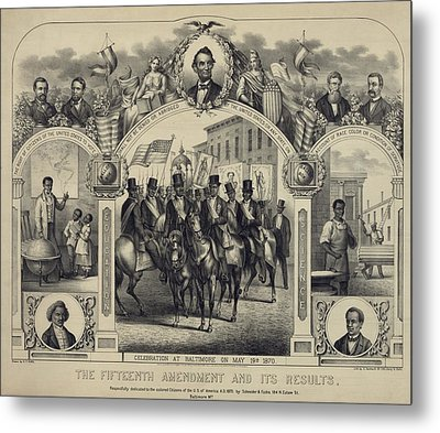 The Fifteenth Amendment Banning Voting Metal Print by Everett
