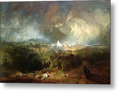 The Fifth Plague Of Egypt Metal Print by Joseph Mallord William Turner