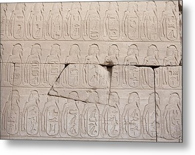 The Figures Of Prisoners On A Temple Metal Print by Taylor S. Kennedy