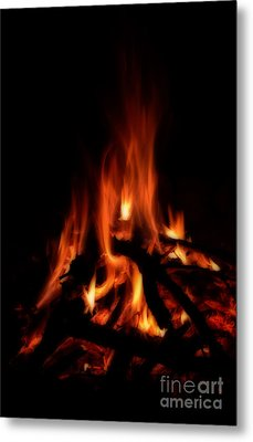 The Fire Metal Print by Donna Greene