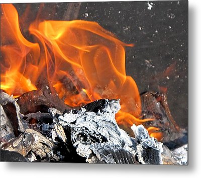 The Fire Within Us Metal Print by Valia Bradshaw
