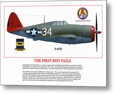 The First  Red Tails Metal Print by Jerry Taliaferro