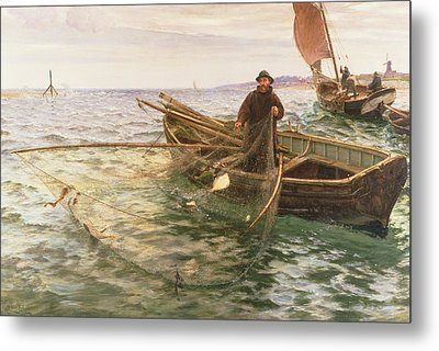 The Fisherman Metal Print by Charles Napier Hemy