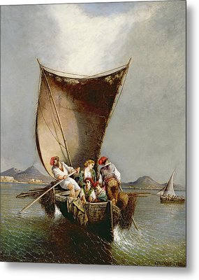 The Fisherman's Family Metal Print by Consalvo Carelli