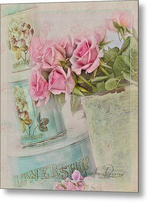 The Flower Shop  Metal Print by Sandra Rossouw