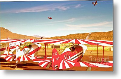 The Flying Circus Reno Air Races Metal Print