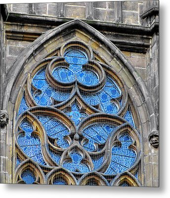 The Folly Of Windows In Prague Metal Print