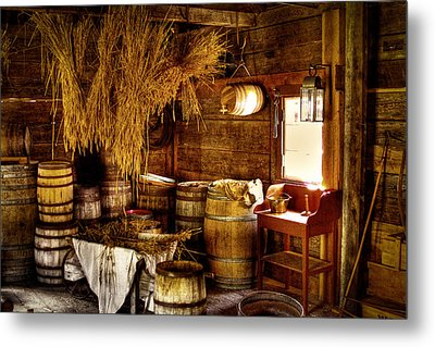 The Fort Nisqually Granary Metal Print by David Patterson