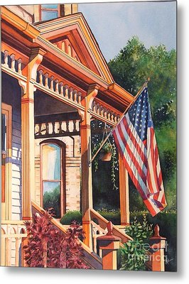 The Founders Home Metal Print by Greg and Linda Halom