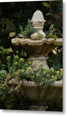 The Fountain Painterly Metal Print by Ernie Echols