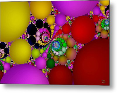 Metal Print featuring the digital art The Fractal Landscape Of Consciousness II by Manny Lorenzo