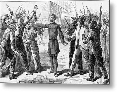 The Freedmens Bureau Was Established Metal Print