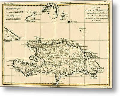 The French And Spanish Colony Of The Island Of St Dominic Of The Greater Antilles Metal Print by Guillaume Raynal