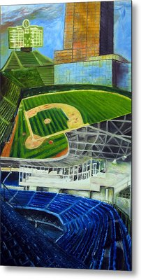 The Friendly Confines Metal Print by Chris Ripley