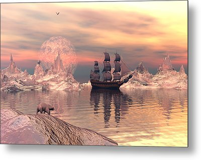 Metal Print featuring the digital art The Frozen North by Claude McCoy