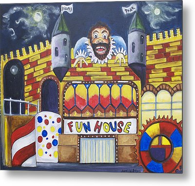 The Funhouse Castle Metal Print by Patricia Arroyo