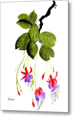 Metal Print featuring the painting The Fuschia by Alethea McKee