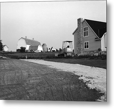 The Future Of Farms Near Chicago Metal Print by Jan W Faul