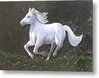 The Galloping Horse- Metal Print by Rejeena Niaz