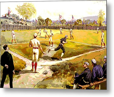 The Game Metal Print by Charles Shoup