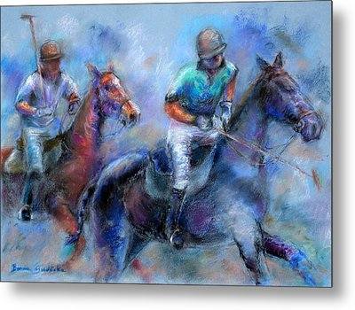 The Game Is On Metal Print by Bonnie Goedecke