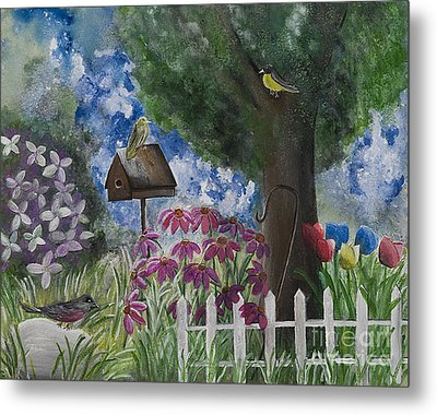 The Garden Metal Print by Barbara McNeil