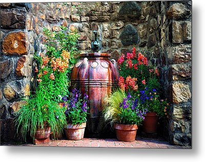 The Garden Cistern Metal Print by Bill Cannon