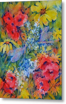 The Garden Metal Print by Cynthia Roudebush