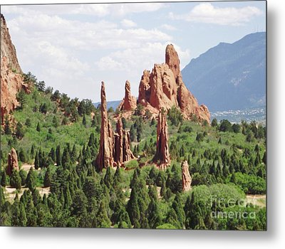 The Garden Of The Gods Metal Print