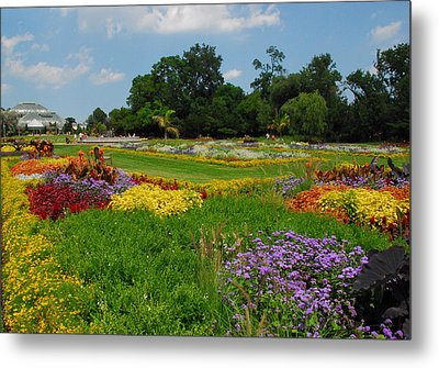 Metal Print featuring the photograph The Gardens Of The Conservatory by Lynn Bauer