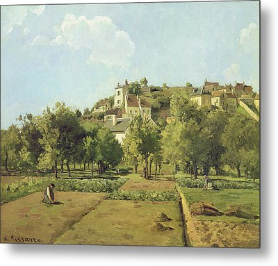 The Gardens Of The Hermitage Metal Print by Camille Pissarro
