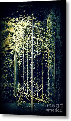 The Gate In The Grotto Of The Redemption Iowa Metal Print by Susanne Van Hulst