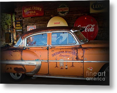 The Getaway Driver Metal Print by Benanne Stiens