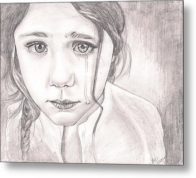 The Girl Metal Print by Beverly Marshall