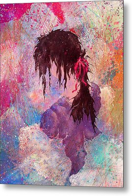 The Girl Of Many Colors Metal Print by Rachel Christine Nowicki