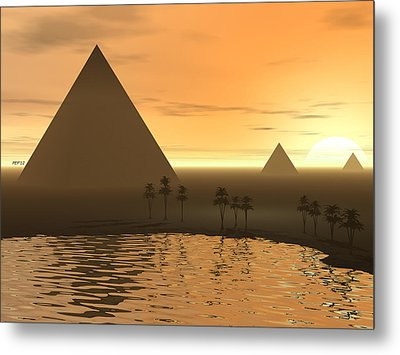Metal Print featuring the digital art The Giza Necropolis by Phil Perkins