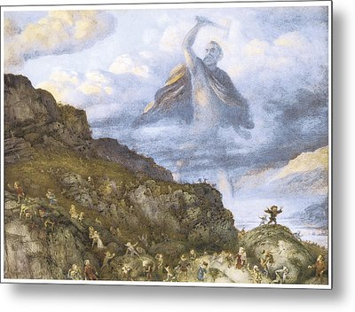 The God Thor And The Dwarves Metal Print by Richard Doyle